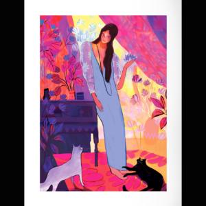 La Femme aux chats par Juliette Oberndorfer