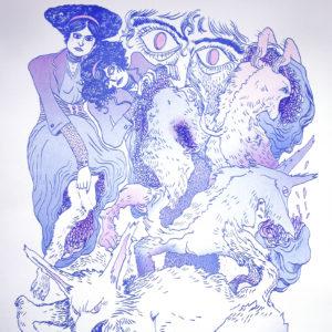 She wolf de Lisa Chetteau – risographie Vertes d'Orage