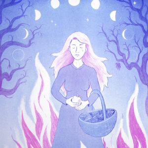Burn the Witch de Marine Loscos – risographie Vertes d'Orage