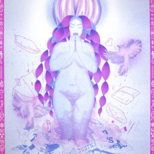 Nouveau Monde de Durgamaya – risographie Vertes d'Orage