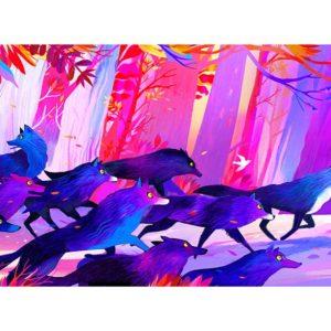 La course des loups par Juliette Oberndorfer