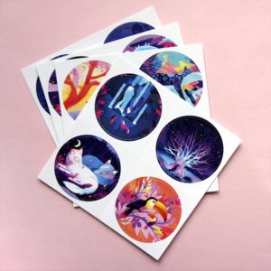 Planche sticker surprise par Juliette Oberndorfer