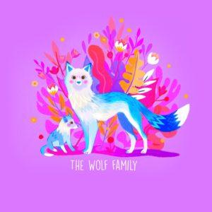 La Famille Loup par Juliette Oberndorfer