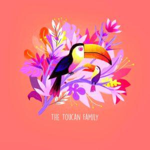 La famille Toucan par Juliette Oberndorfer