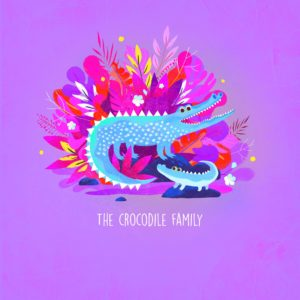 La famille Crocodile par Juliette Oberndorfer